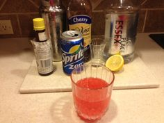 Casino- 2 ounces gin, 1 ounce lemon juice, 1 tsp cherry sf syrup, dash of bitters, diet sprite. Shake all ingredients except Sprite with ice in shaker. Strain into glass. Add Sprite to taste. I give it a 4 out of Low Carb Cocktails, Happy Hour, Syrup, Gin, Shake, Juice, Cherry, Lemon, Glass