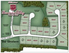 Toll Brothers Dominion Valley Country Club - Executives Site Plan