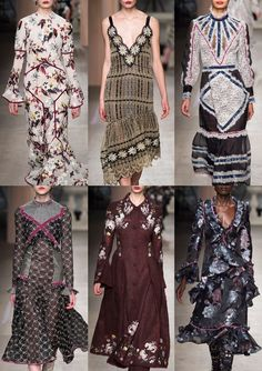 04-erdem-aw1617- 70's Swirly Pattern – Oversized 70's Floral – Python Skin Prints – Glam Rock Style – Soft Plaid Tartans – Luxe and Lustre – Abstract Geometric Tiles – Stylised 70's Lustred Florals