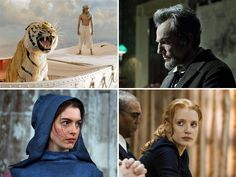 'Lincoln,' 'Life of Pi,' top Oscar nominations (Photos: Warner Bros., DreamWorks, Univer) #OscarNoms