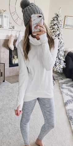 #winter #outfits white turtleneck sweater