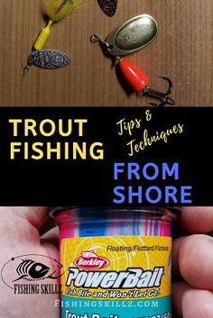 Do you want to know how to fish for trout from shore? This is the utlimate guide on getting you set up for trout fishing from Trout Fishing Tips, Fishing Rigs, Walleye Fishing, Carp Fishing, Ice Fishing, Fishing Tackle, Fishing Guide, Fishing 101, Saltwater Fishing