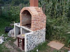 constructia unui gratar de gradina How to build an outdoor brick oven 5 Brick Oven Outdoor, Arch, Outdoor Structures, Exterior, Building, Gardening, Cooking, Buildings, Garten