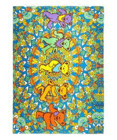 Another great find on #zulily! Grateful Dead Dancing Bear Tapestry # ...
