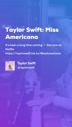 Taylor Swift: Miss Americana by Taylor Swift Long Time Coming, Tableaux Vivants, Movie Gifs, Official Trailer, Coming Out, Taylor Swift, Netflix, Feelings, Going Out