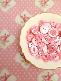 Pink vintage buttons