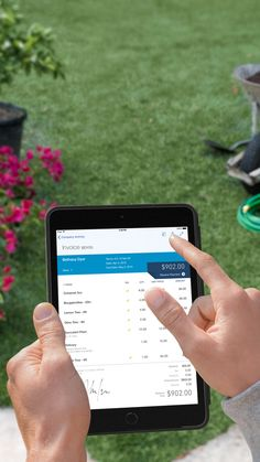 Manage your business while you're away using the Quickbooks app. Create and send invoices and manage expenses and customers from wherever you are.