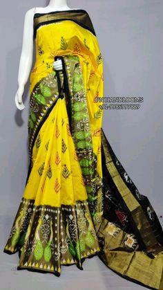 Ikkat Pattu Sarees, Pochampally Sarees, Bollywood Saree, Pink Saree, Half Saree, Saree Wedding, Kimono Top, Sari, Tops