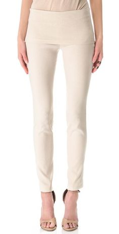 Finally found yoga pants appropriate for work - Donna Karan New York  Fold Over Tube Pants - too bad they're $495 yoga pants!