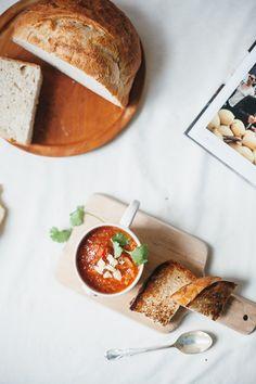 Tomato sourdough soup