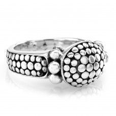 Signed Designer JOHN HARDY Dot Collection Ring in Sterling Silver