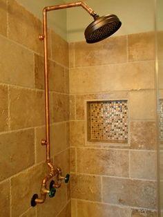 HEAD IN BEN WHEELER - rustic - Bathroom - Dallas - Wright-Built