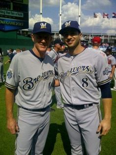 Ron Roenicke and Ryan Braun. #Brewers #ASG