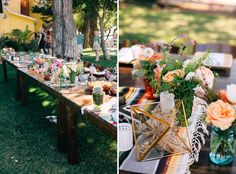 Love this outdoor reception table decor.