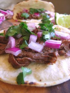 Shredded elk & elk street tacos, can use any meat in this recipe. Will NOT be using elk but would like to try with beef. Elk Meat Recipes, Moose Recipes, Wild Game Recipes, Venison Recipes, Mexican Food Recipes, Crockpot Recipes, Real Food Recipes, Cooking Recipes, Healthy Recipes