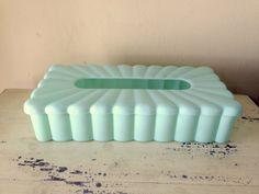 Vintage Tissue Box Holder Bakelite Plastic by VintageJunkInMyTrunk