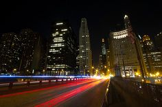 How to Photograph Light Trails – PictureCorrect Light Trail Photography, Reflection Photography, Canon Photography, Photography And Videography, Night Photography, Amazing Photography, Street Photography, Travel Photography, Chicago At Night