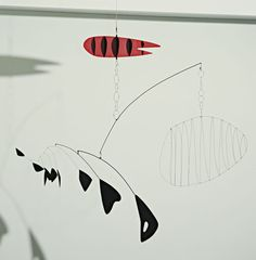 Alexander Calder, Lobster Trap and Fish Tail. 1939. Seen at MoMA (hanging in a stairwell), July 2013. So cleanly elegant and graceful.