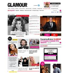french glamour magazine online layout -love the colors, very splashy, graphic, fun, cool, organized yet disorganized, chic