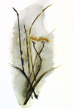 Tristeza, 2014. Sumi-e, tintas sobre seda  en soporte rígido de 33 x 235 cm. Alesso, Moth, Insects, Animals, Antique China, Silk, Ink, Animales, Animaux