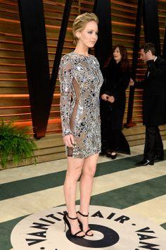 #JenniferLawrence at the #Oscars afterparty.