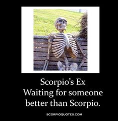 omg so funny! Scorpio's ex, waiting for someone better than  #scorpio.