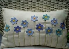 Felt flowers cushion