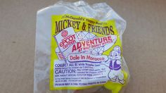 McDonald`S HAPPY MEAL TOY 1993 MICKEY & FRIENDS Dale In Morocco (Cake Topper