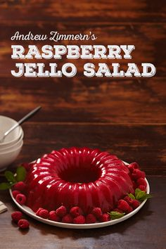 This Jello salad looks so good! Love Andrew Zimmern and his recipes. Perfect for a potluck—it serves a crowd!