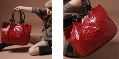Fashion Women's Shoulder Bag With Stone Pattern and Metal Design IN BLACK, RED, COFFEE, BLUE, CAMEL