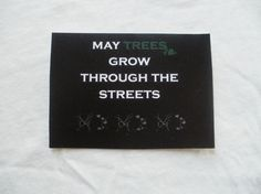 May trees grow through the streets: nature lover sticker by EasternHawkArt
