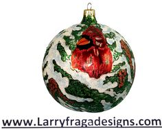 """Christmas Holly Ball."" Available from: WWW.larryfragadesigns.com"