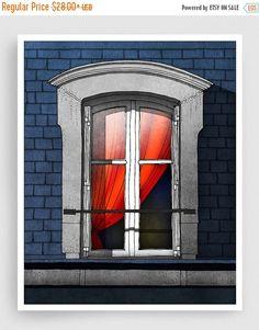 30 % OFF SALE: der rote Vorhang  Paris Abbildung Art von tubidu