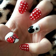 Pin for Later: 20 Cartoon-Inspired Nail Art Looks That Will Make You Feel Nostalgic The Minnie Mani
