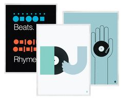 Uncovet - Beats And Music Prints by My Little Underground
