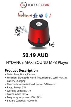 Mini Bluetooth Speaker & Power Bank Computer Gadgets, Mini Bluetooth Speaker, Sd Card, Mp3 Player, Red, Rouge