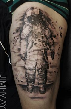 Brand new Astronaut Thigh piece (by Artist Jimi May) - Imgur