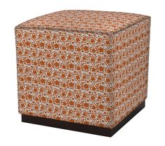 Twain Ottoman in Solid Florals,  featured on Guildery