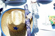 cowboy favors - hat and bandana