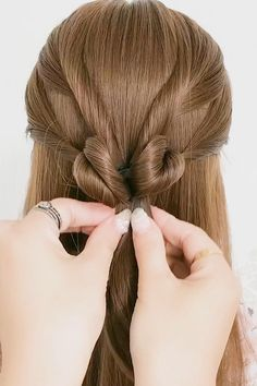 Easy Hairstyles For Thick Hair, Easy And Beautiful Hairstyles, Hair Tutorials For Medium Hair, Hairdo For Long Hair, Braided Hairstyles Updo, Hairstyles Videos, Hair Videos, Front Hair Styles, Medium Hair Styles