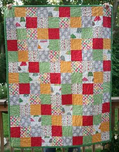 Modern Quilt  Crib Size  SALE by FreshLemonsQuilts on Etsy, $85.00