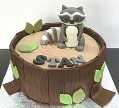 A Raccoon inspired Birthday cake delivered today!    Based in Leek I make cakes and cupcakes - check out my website!  I deliver to Leek and surrounding areas.