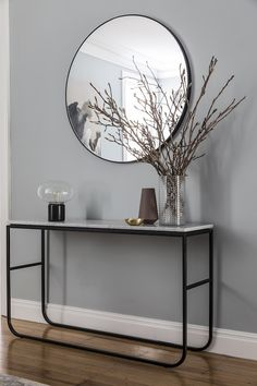 AFTER hallway. A Warranbrooke mirror sits above a Grazia & Co console table. Bar Set Furniture, Furniture Decor, Dulux Tranquil Retreat, House Paint Interior, Interior Design, Character Home, Old Room, Sydney, Home Additions