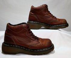 Dr Martens UK 6  Brown Leather Ankle Boots Womens 8 Mens 7 medium USED #drmartens #boots