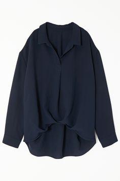 【予約販売】【オンラインショップ限定】ジョーゼット裾ギャザーブラウス アメリカンラグ シー/AMERICAN RAG CIE