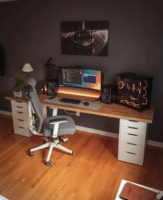 Gaming Desk Setup, Pc Setup, Desk Inspo, Workspace Inspiration, Tour Pc, Configuration Pc, Minimal Desk, Dream Desk, Workspace Desk