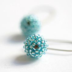 Sweet aqua blue earrings