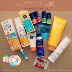 Love At First Site: Summer Box by e-pharm.gr [Greek Only] First Site, Sun Care, Summer Bags, Blogging, Greek, Cosmetics, Love, Beauty, Gingham