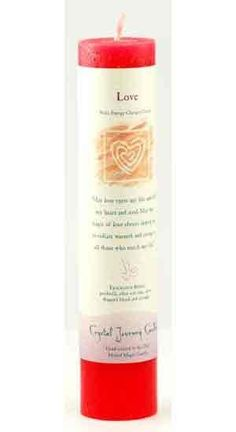 Love Reiki Charged Pillar Candle