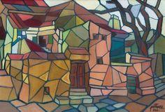 Színes város, 1966: 5. aukció (2000. tavasz) 95.tétel Cube, Painting, Art, Art Background, Painting Art, Kunst, Paintings, Performing Arts, Painted Canvas